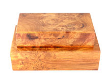 Two wooden box (Myanmar style) Royalty Free Stock Photo