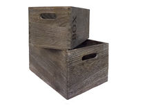 Two wooden boxes. Stock Images