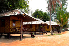 Two wooden bungalow. Wooden bungalows on the thailand island koh pan gan Royalty Free Stock Image