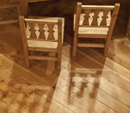 Two wooden chairs Royalty Free Stock Images