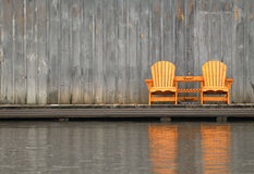 Two wooden chairs Stock Image
