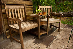 Two wooden chairs Stock Photography