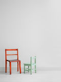 Two wooden chairs Royalty Free Stock Image