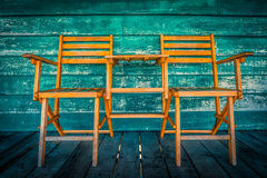 Two wooden chairs Royalty Free Stock Photography