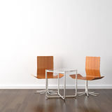 Two wooden chairs on white Stock Image