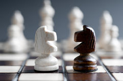 Two wooden chess Royalty Free Stock Photos
