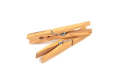 Two wooden clamps Stock Image