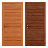 Two wooden closed doors Stock Images