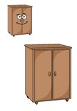 Two wooden cupboards Stock Image