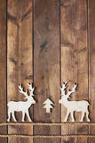 Two wooden deers Royalty Free Stock Photography