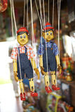 Two wooden doll Stock Photography