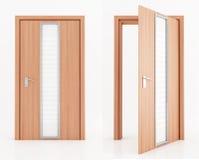 Two wooden door stock photos