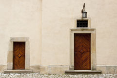 Two wooden door Royalty Free Stock Photos