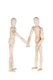 Two wooden dummies Stock Photos