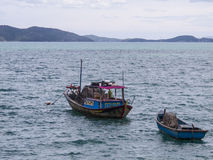 Two wooden fishing boats Royalty Free Stock Image