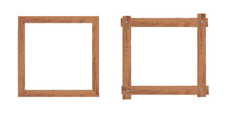 Two wooden frames. Realistic illustration Stock Image