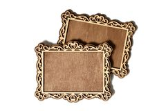 Two wooden frames Royalty Free Stock Photo