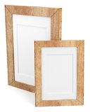 Two wooden frames  on white background Stock Images