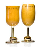 Two wooden goblet Stock Images