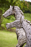 Two wooden horse toy Stock Photo