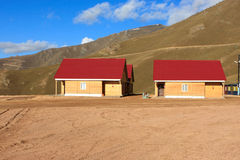 Two Wooden Houses Royalty Free Stock Photography