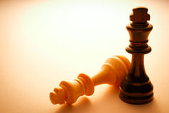 Two Wooden King Chess Pieces Royalty Free Stock Image