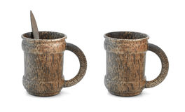 Two wooden mug Stock Photo