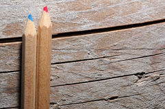 Two wooden pencils Royalty Free Stock Photos