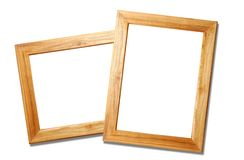 Two wooden picture frames Royalty Free Stock Image