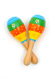 Two wooden rattle Royalty Free Stock Photos