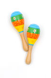 Two wooden rattle Stock Image