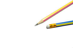 Two wooden sharp pencils Stock Image