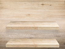 Two wooden shelves Stock Photography