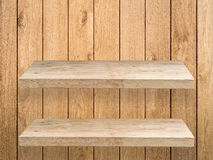 Two wooden shelves Stock Photo
