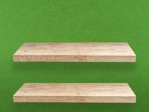 Two wooden shelves Royalty Free Stock Photography