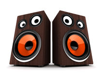 Two wooden speaker Royalty Free Stock Images