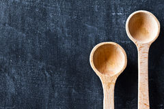 Two wooden spoons Stock Image