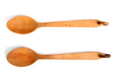 Two wooden spoons Royalty Free Stock Photography