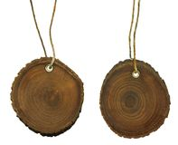 Two wooden tag Royalty Free Stock Photography