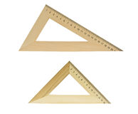 Two wooden triangles Royalty Free Stock Images