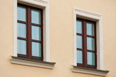 Two wooden windows Stock Photography