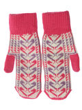 Two wool mittens Stock Photo
