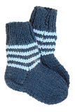 Two wool socks Stock Photos