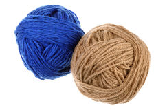 Two woolen balls Royalty Free Stock Image