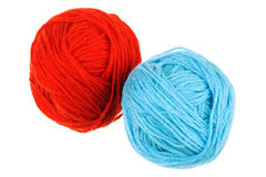Two woolen balls Royalty Free Stock Photography
