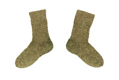 Two woollen socks Royalty Free Stock Images