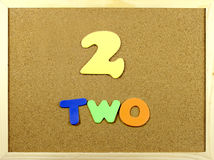 Two word on a corkboard Royalty Free Stock Photos