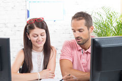 Two work colleague Royalty Free Stock Images