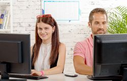 Two work colleague Royalty Free Stock Photo