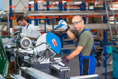 Two worker in factory Royalty Free Stock Photo